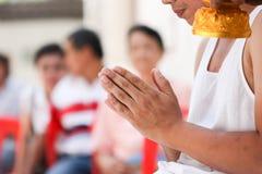 Ceremonia de la ordenación, monje Fotos de archivo libres de regalías