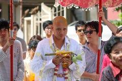 Ceremonia de la ordenación, monje Imagen de archivo libre de regalías