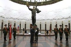 Ceremonia de la transferencia de la bandera de la victoria Imagenes de archivo