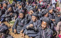 Ceremonia de la tribu Ene Imagen de archivo libre de regalías