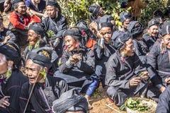 Ceremonia de la tribu Ene Imagen de archivo