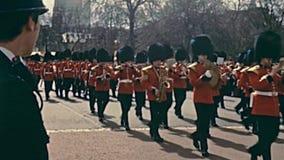 Ceremonia de los guardias de brit?nicos metrajes