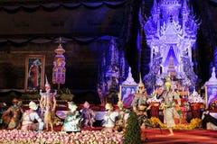 Ceremonia de luto del patriarca del templo de Chedi Luang imágenes de archivo libres de regalías