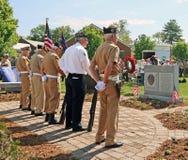 Ceremonia de Memorial Day Imágenes de archivo libres de regalías