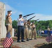 Ceremonia de Memorial Day Foto de archivo libre de regalías