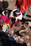 Ceremonia de Pachamama Fotos de archivo