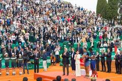 Ceremonia de premios en Monte-Carlo Rolex Masters 2016 Foto de archivo