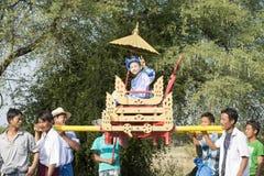 Ceremonia de Shinbyu o del novitiation Fotografía de archivo