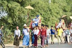 Ceremonia de Shinbyu o del novitiation Imagen de archivo libre de regalías