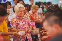 Ceremonia de Songkran fotos de archivo