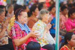 Ceremonia de Songkran imagen de archivo