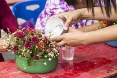 Ceremonia de Songkran, Año Nuevo tailandés Imagen de archivo