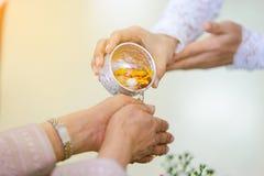 Ceremonia de Songkran, Año Nuevo tailandés Fotos de archivo libres de regalías