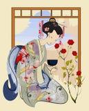 Ceremonia de té ilustración del vector