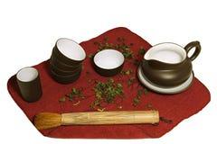 Ceremonia de té china Fotos de archivo libres de regalías