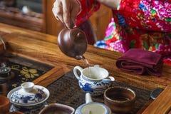Ceremonia de té china Fotos de archivo