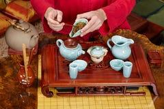Ceremonia de té china Foto de archivo libre de regalías