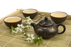 Ceremonia de té china foto de archivo