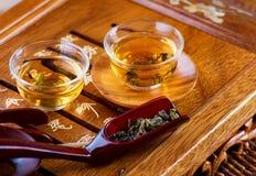 Ceremonia de té del chino tradicional Imagenes de archivo