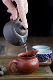 Ceremonia de té del chino tradicional Foto de archivo libre de regalías