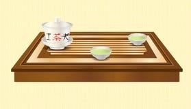 Ceremonia de té del vector Imagenes de archivo