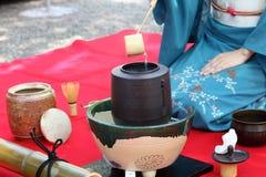 Ceremonia de té japonesa Foto de archivo libre de regalías
