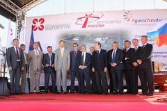 Ceremonia de una dirección de la Internet de la fábrica AgustaWestland Foto de archivo