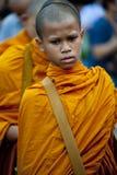 Ceremonia del Alms-giving en Bangkok foto de archivo libre de regalías
