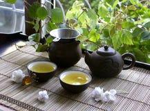 Ceremonia del chino del té fotografía de archivo libre de regalías