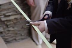 Ceremonia del corte de la cinta Foto de archivo libre de regalías