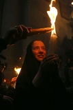 Ceremonia del milagro santo del fuego Fotografía de archivo libre de regalías