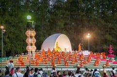 Ceremonia del monje budista fotos de archivo