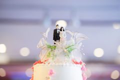 Ceremonia del pastel de bodas Fotos de archivo