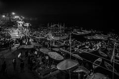 ceremonia GANGA SEVA NIDHI Varanasi, la India fotografía de archivo libre de regalías