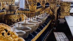 Ceremonia gongi w Pura Besakih świątyni w Bali wyspie, Indonezja zdjęcia royalty free