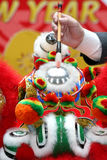 ceremonia kropkowania taniec lwa oko Obraz Stock