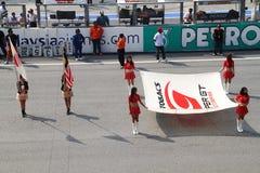 Ceremonia nacional del anterm en SuperGT 2010 Foto de archivo
