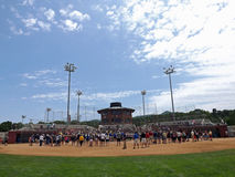 Ceremonia NCAA podziału 2 softball Chanpionship Zdjęcia Royalty Free