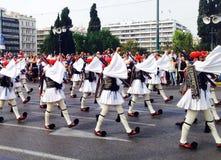 Ceremonia odmienianie strażnicy w Ateny, Grecja obrazy royalty free
