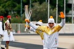 Ceremonia Olimpijski płomień dla olimpiad zimowych Zdjęcia Royalty Free