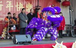 Ceremonia otwarcia chińczyka nowy rok Zdjęcie Stock