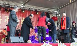 Ceremonia otwarcia chińczyka nowy rok Zdjęcia Stock