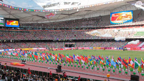 Ceremonia otwarcia IAAF Światowi mistrzostwa w ptaka gniazdeczku, Pekin, Chiny zdjęcie royalty free