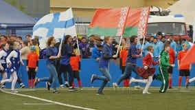 Ceremonia otwarcia rugby Europa Sevens klubu mistrza ` s trofeum zdjęcie wideo