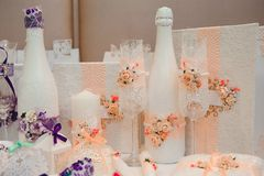 ceremonia poślubiać target2479_1_ Ślubnej ceremonii dekoracja, piękny ślubny wystrój obrazy stock