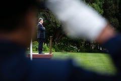 Ceremonia que da la bienvenida del funcionario del presidente de Ucrania Poroshenko i Imagen de archivo libre de regalías