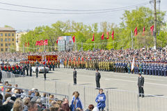 Ceremonia rusa del desfile militar de la abertura en vencedor anual Fotos de archivo libres de regalías