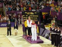 Ceremonia Wręczenia Nagród, olimpia 2012 Zdjęcie Stock