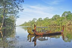 Ceremonial barges Royalty Free Stock Image