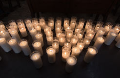 Ceremonial candle lights Stock Images